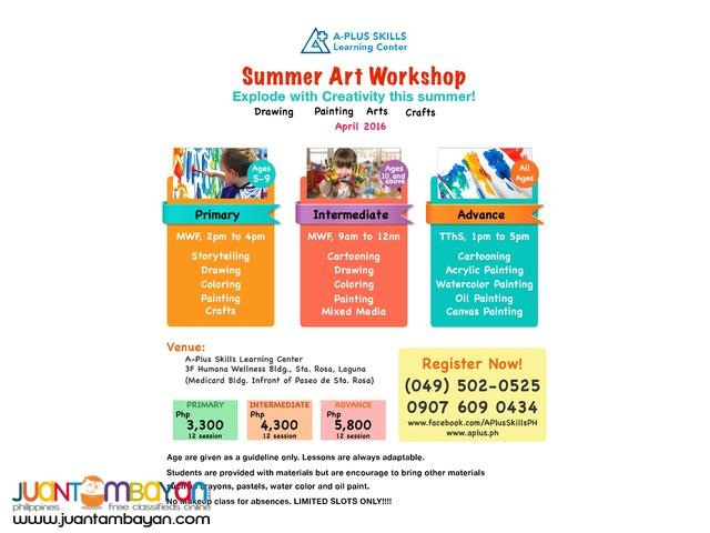 April 2016 Summer Art Workshop Sta.Rosa Limited Slot