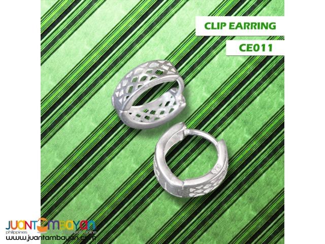 JJ Silver Jewelry Clip Earring