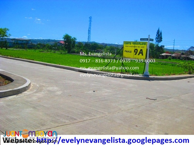Cainta Greenland Exec. Village Phase 8A1, 8B3, 9A @ P 6,900/sqm.
