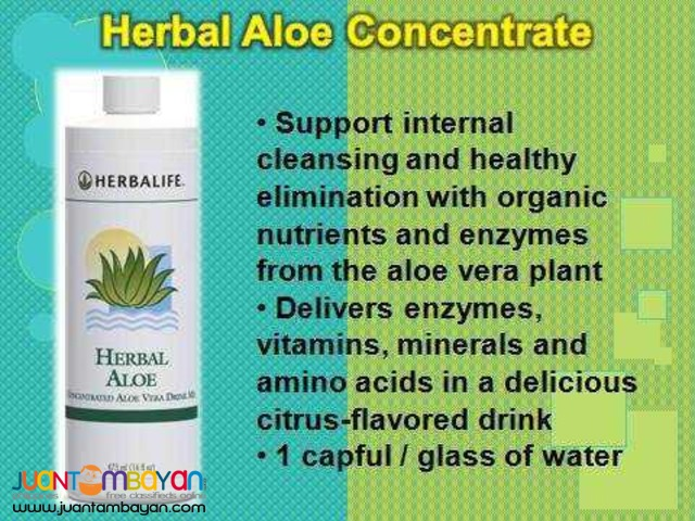 Herbalife Aloe for better weight lose program