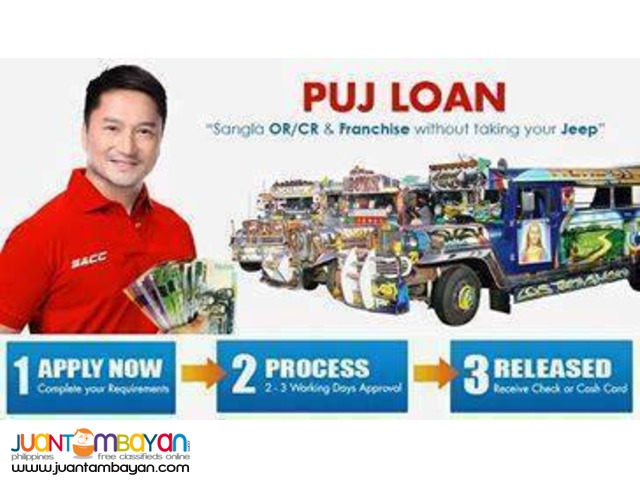 PUJ,UV-EXPRESS and Taxi Loan