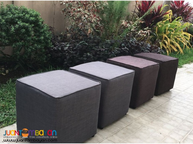 square type Ottoman package of 6