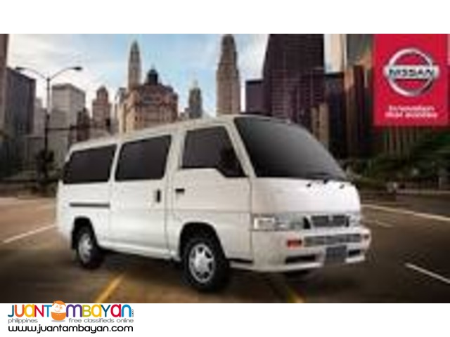 rent a car, nissan urvan