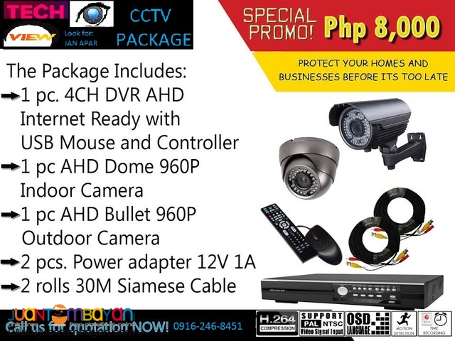 indoor and outdoor cctv camera promo package