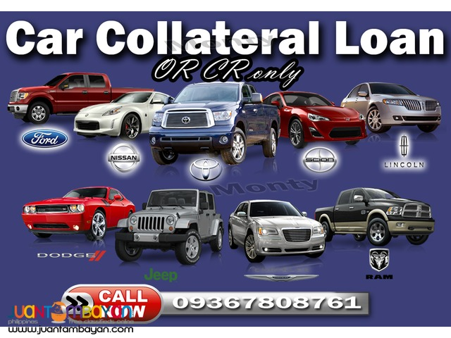 Car pawn OR CR only / sangla OR CR w/o taking your car