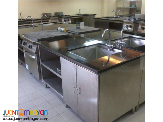 Stainless Kitchen Equipment , Ducting , Gas Line , Railings