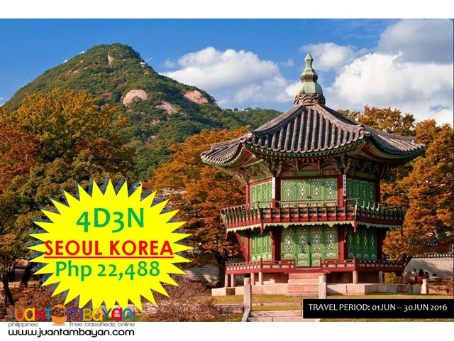 4D3N Korea Free and Easy Tour Package with Airfare!