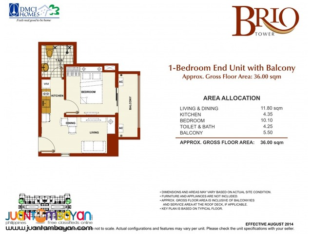 1, 2, & 3 BR Makati Condo Guadalupe Manila Brio Tower