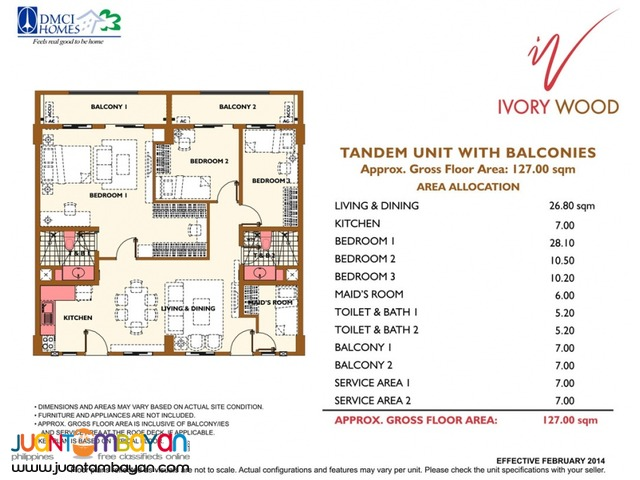 2 & 3 BR Taguig Acacia Estates SLEX Condo Ivory Wood Condominium