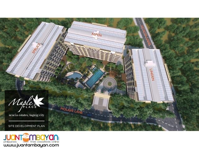 2 & 3 BR Taguig C5 Slex Condo Maple Place Condominium