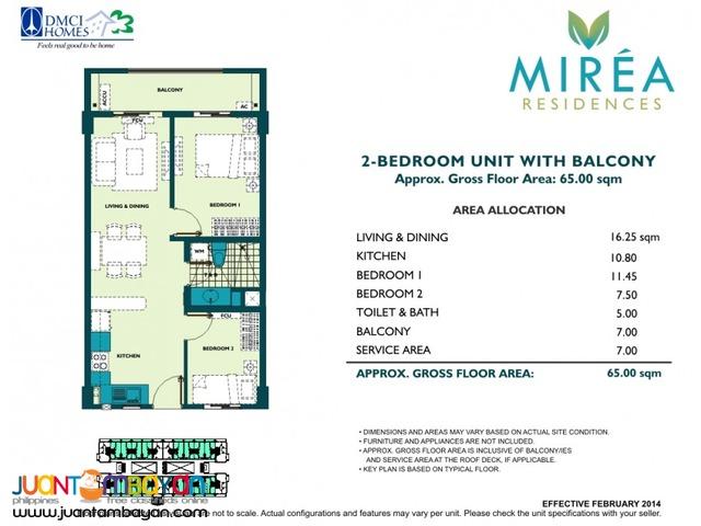 2 & 3 BR Marikina Antipolo Condo Marcos Highway - Mirea Residences