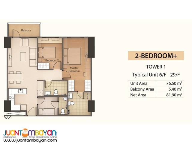 Condo 2BR for as low as P39,186 mo equity