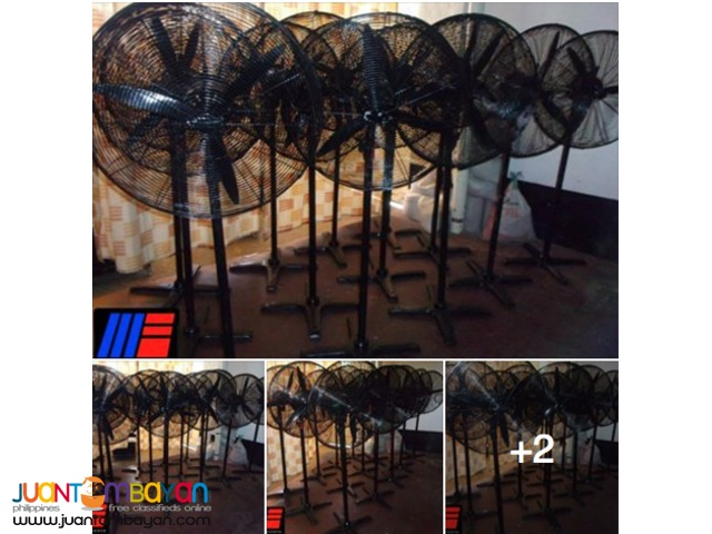 Ten industrial fans