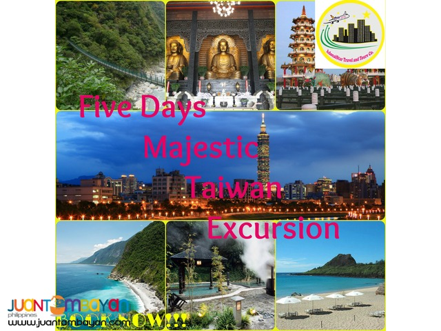 Five Days Majestic Taiwan Excursion