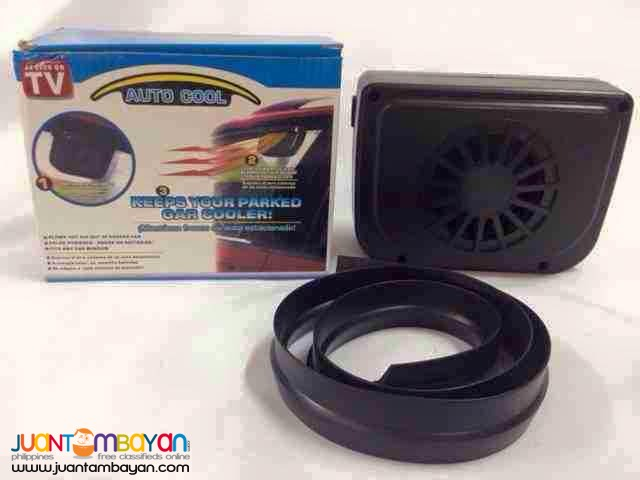 Solar Powered Auto Cool Car Vehicle Fan Cooling Ventilation System