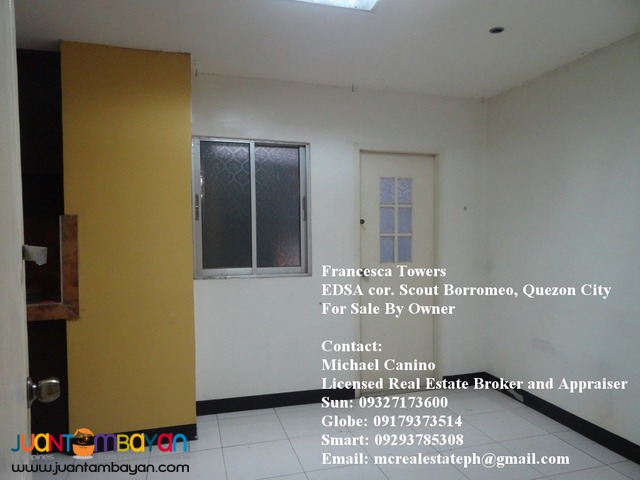 Francesca Towers 2 BR Condo along EDSA near GMA and ABS-CBN For Sale b