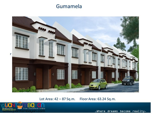 Townhouse for as low as P13,972 mo equity in Talisay