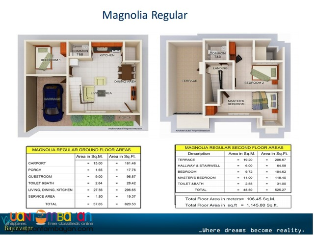 Townhouse Duplex type for as low as P20,598 mo equity in Talisay