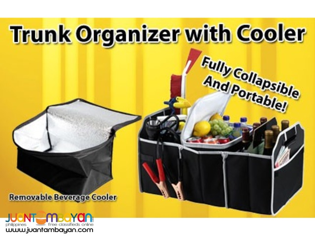 EZ Car Trunk Organizer Cooler Chiller Folding Collapsible Storage