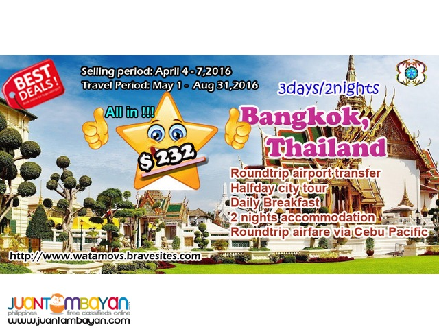 bangkok free and easy package