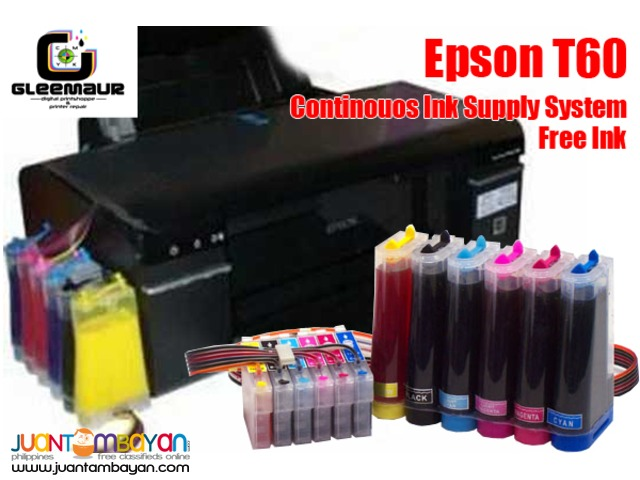Epson T60 Conversion to Continouos Ink Supply System (CISS)