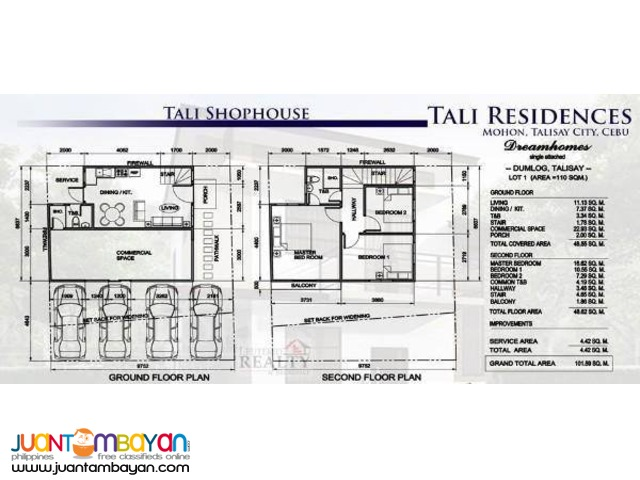 Talisay Commercial Shophouses For Sale Tali Residences