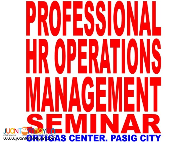 Professional HR Operations and Management Seminar in Pasig City