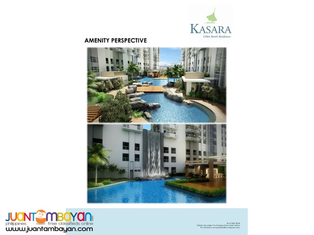 KASARA Urban Resort Residences Pasig = 2.32 M up/unit