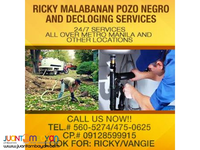 RICKY POZO NEGRO SIPHONING SERVICES 475-0625/ 09128599915