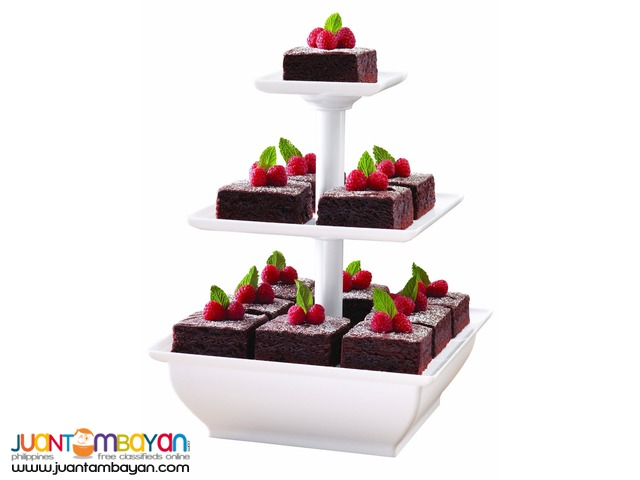 3 Tier Snack Server Stand For Cupcakes Desserts Pastries