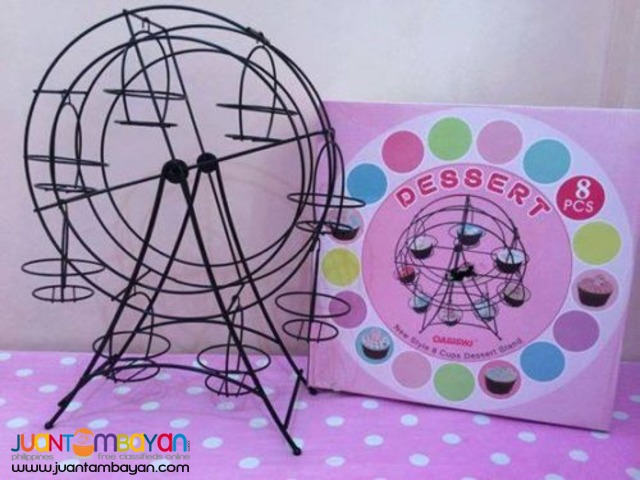 Metal Rotating Ferris Wheel Cupcake Dessert Holder Stand