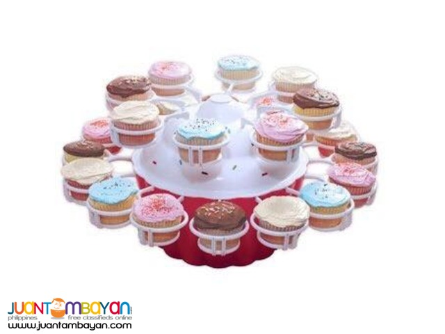 Cupcake Stand Merry Go Round Kitchen Baking Party Needs 24 Slot