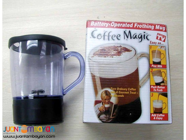 Coffee Magic Frothing Mug Battery Operated