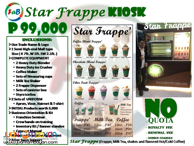 Star Frappe, Foss Coffee, Farron Café, Red Bucks Franchise