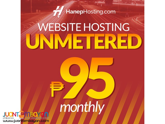 Web Hosting Philippines ₱95 Unmetered Storage, Domains & Apps
