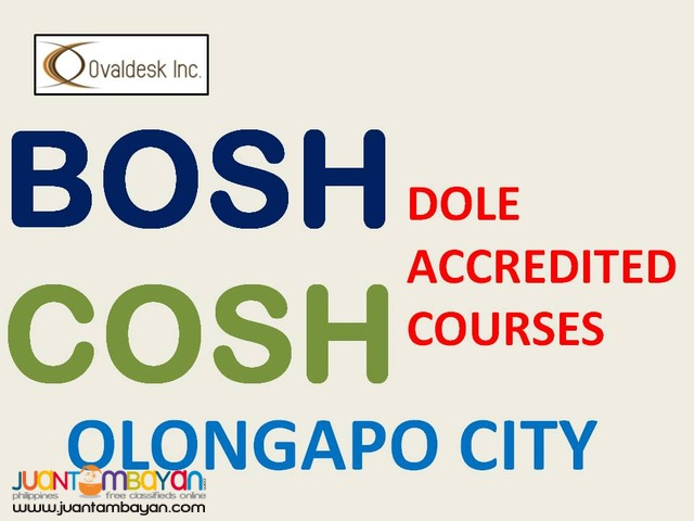 DOLE Accredited SAFETY Training COURSES (BOSH) (COSH) (LCM)