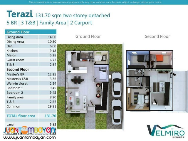 Velmiro Heights 2-Storey Detached 5BR Terazi Model
