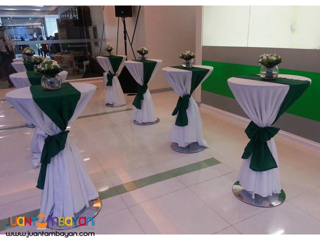 10 Elegant Cocktail Tables for rent De La Salle
