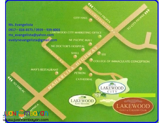 The Villages at LAKEWOOD CITY @ P 5,900/sqm.