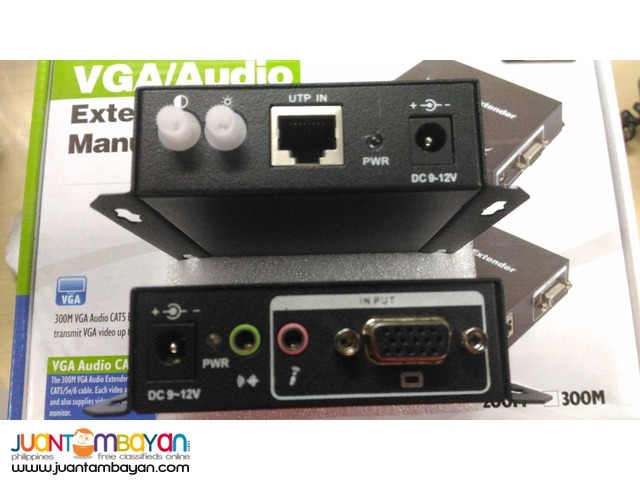 VGA Extender up to 300M Via Single Lan / UTP Cable