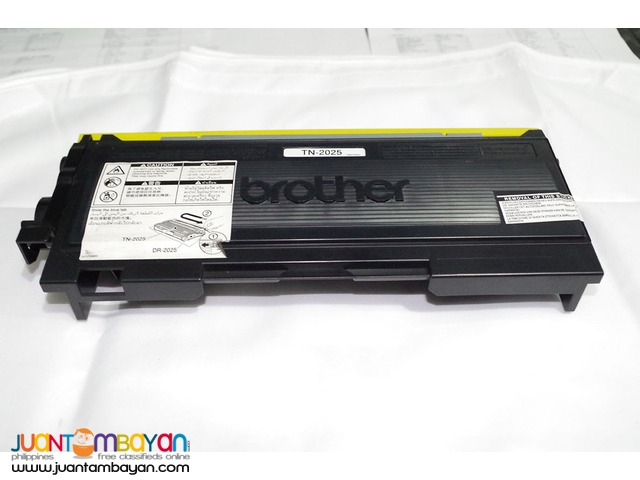 Brother TN-2025 toner ink cartridge with automatic printer warranty