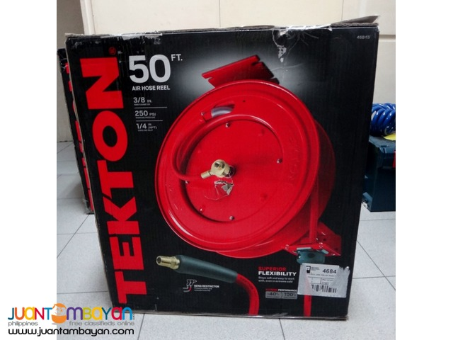Tekton 46845 50-foot by 3/8-inch I.D. Auto Rewind Air Hose Reel