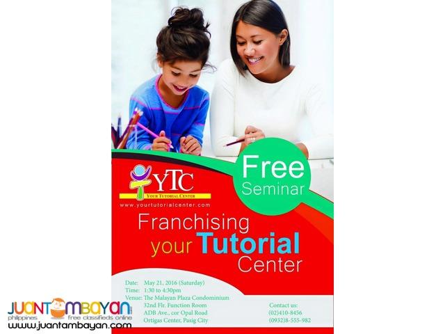 May 21, 2016: Franchising YTC FREE Seminar