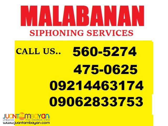 BEST FOR SIPHONING AND DECLOGGING SERVICES 475-0625/09128599915