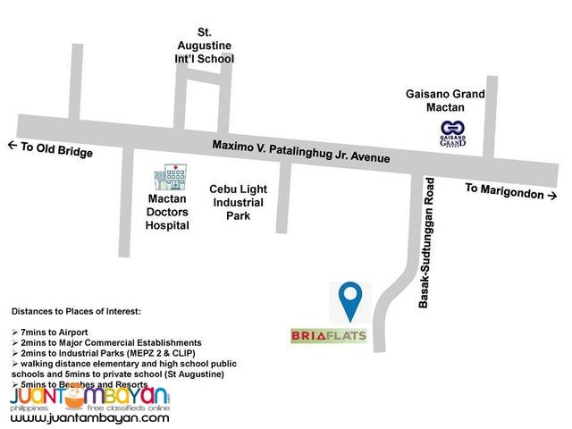 Bria Flats at Basak, Lapu-Lapu City, Cebu Studio Unit