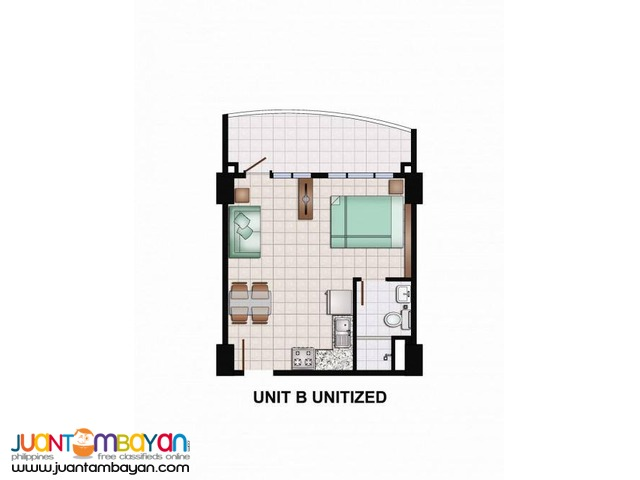 Amisa Residences at Punta Engaño, Lapu-Lapu City, Cebu Studio Uni