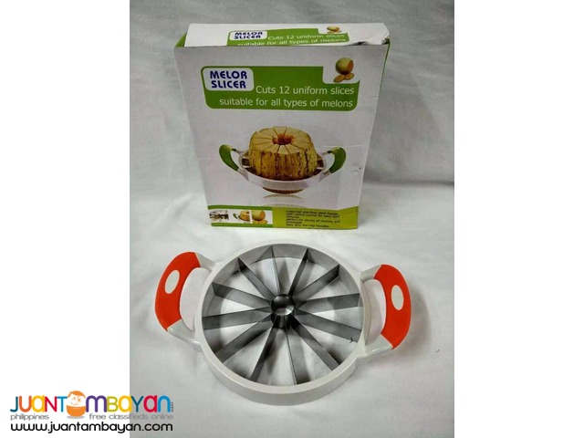 Melon Watermelon Slicer Stainless Steel Fruit Slicer 21CM
