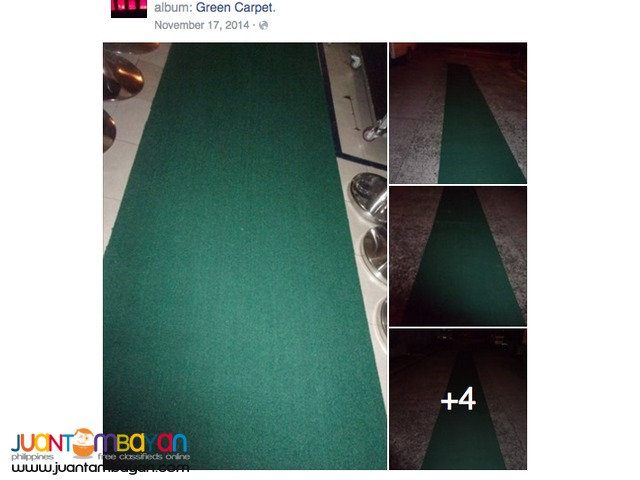 COLOR GREEN EVENT CARPET