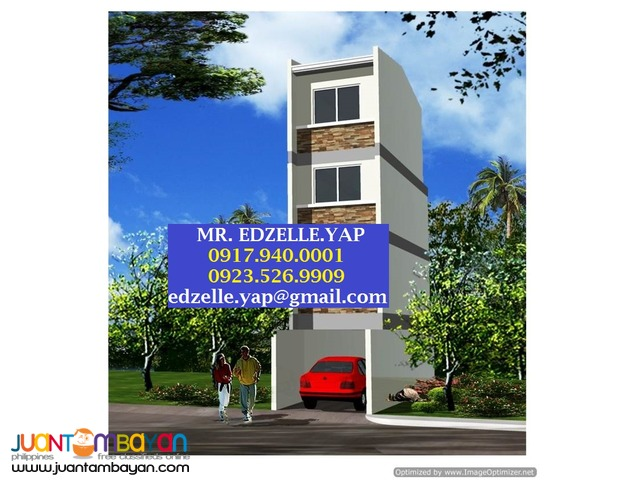 4 Storey Townhouse for Sale . Bago Bantay, Quezon City