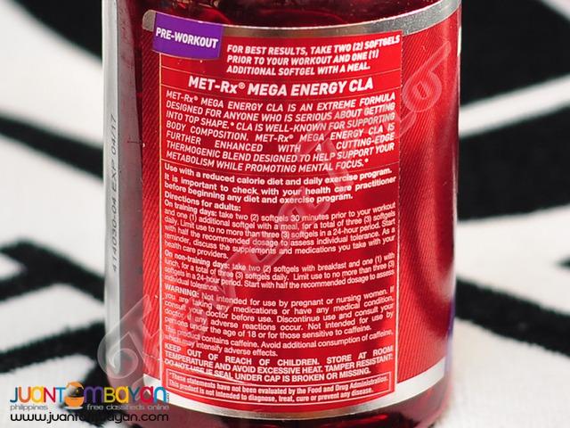 Met-Rx Mega CLA Energy, 120 sgels, 60 servings (Free shipping)